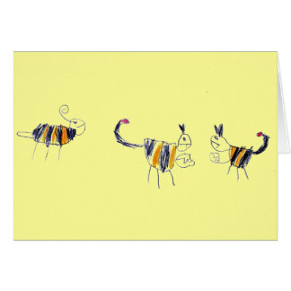 Bee Scorpion fight-card Greeting Card
