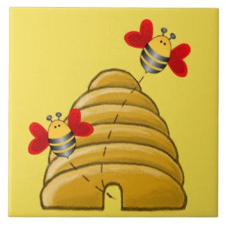 BEE SKEP by SHARON SHARPE Tile