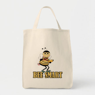 bee smart bumble bee with pencil canvas bag