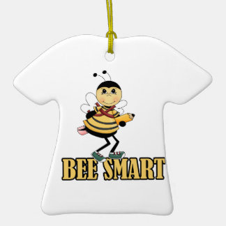 bee smart bumble bee with pencil christmas tree ornament