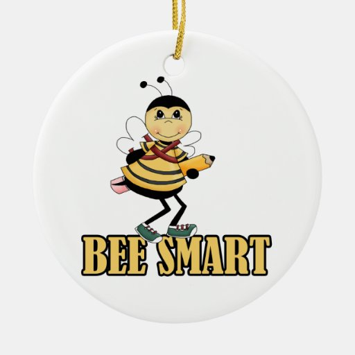 bee smart bumble bee with pencil christmas ornaments