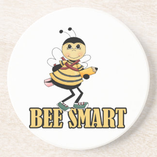 bee smart bumble bee with pencil drink coasters