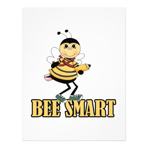 bee smart bumble bee with pencil flyer