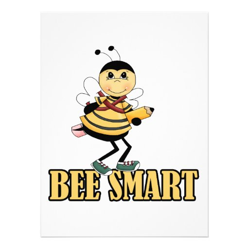 bee smart bumble bee with pencil invitation