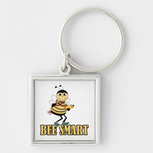 bee smart bumble bee with pencil key chain