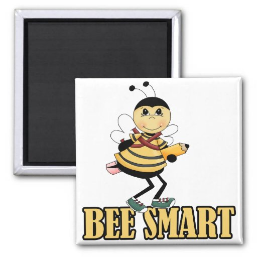bee smart bumble bee with pencil fridge magnets