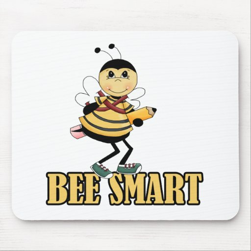 bee smart bumble bee with pencil mouse pads