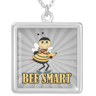 bee smart bumble bee with pencil pendant