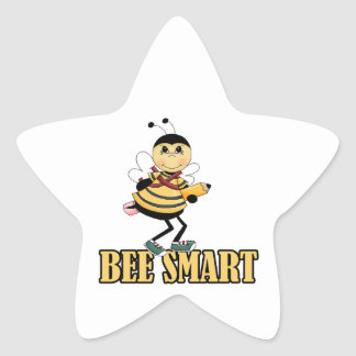 bee smart bumble bee with pencil star sticker