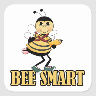 bee smart bumble bee with pencil sticker