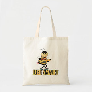 bee smart bumble bee with pencil budget tote bag