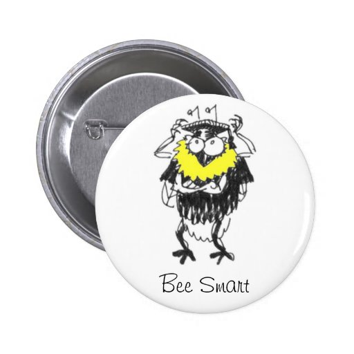 Bee Smart button badge
