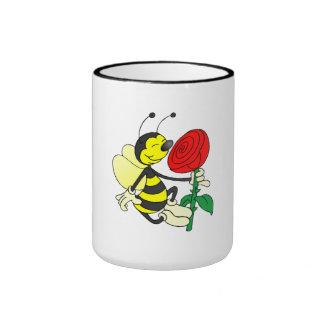 Bee Smelling Flower Mugs