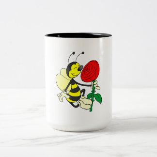 Bee Smelling Flower Mug