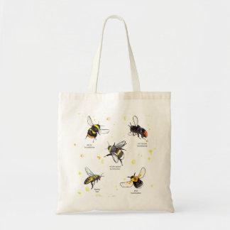 Bee species tote bag