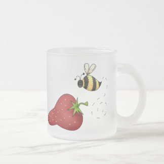 Bee Strawberry Coffee Mugs