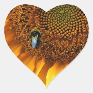 Bee Sunny Heart Sticker