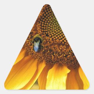 Bee Sunny Triangle Sticker