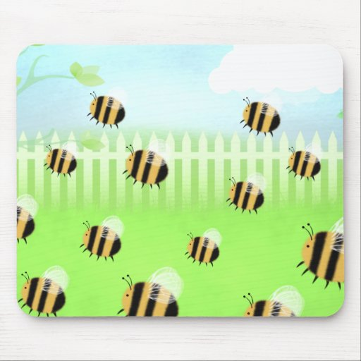 Bee swarm - mouse mat