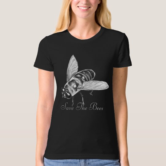 Bee T-shirt Honeybee Shirt Save the Bees Organic