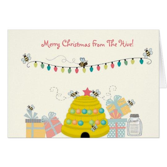 Bee Theme Christmas Card
