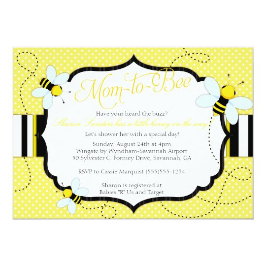 BEE THEMED - Baby Shower Invitation - Mum