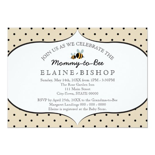 Bee Themed - Baby Shower Invitation - Mummy