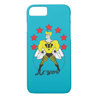 Bee U (Be You) white or red stars iPhone 7 Case