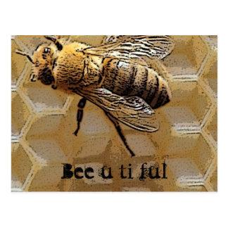 Bee u ti ful postcard