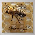 Bee u ti ful print