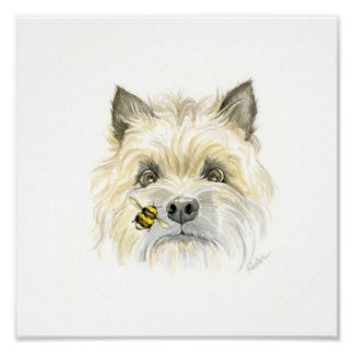 Bee-utiful Cairn Terrier Poster