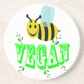 bee vegan coaster