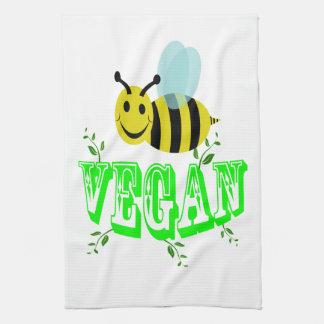 bee vegan tea towel