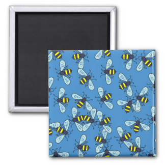 Bee Wallpaper Square Magnet