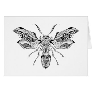 Bee-Wasp Tattoo Card