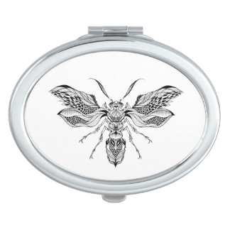 Bee-Wasp Tattoo Mirrors For Makeup