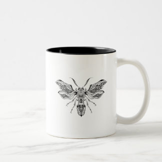 Bee-Wasp Tattoo Two-Tone Coffee Mug