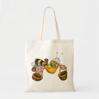 Bee With Buckets Tote Bag