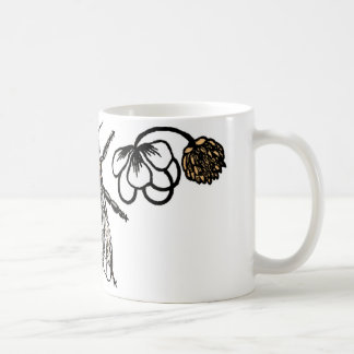 bee with clover basic white mug