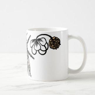 bee with clover coffee mug