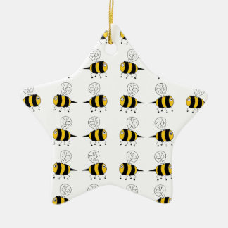 bee -  yellow christmas ornament