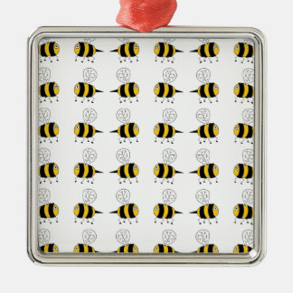 bee -  yellow christmas ornament