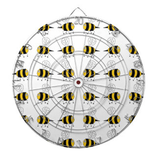 bee -  yellow dartboard