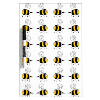 bee -  yellow dry erase board
