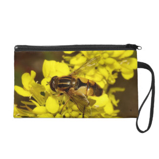 Bee & Yellow Flowers Wristlet Clutches