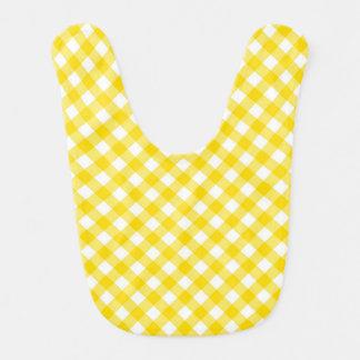 Bee Yellow Gingham Baby Bib