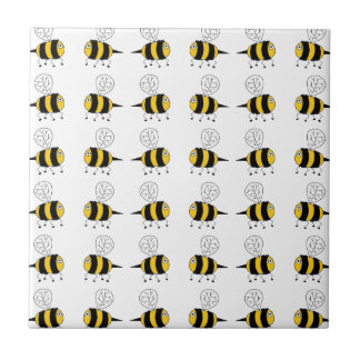 bee -  yellow tile