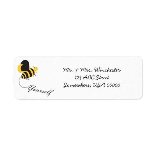 Bee Yourself Return Address Label