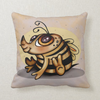 BEEBEE  CUTE  ALIEN THROW PILLOW 16 X 16