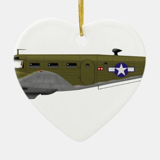 Beech C-45 Expeditor Army Air Corps Ornaments
